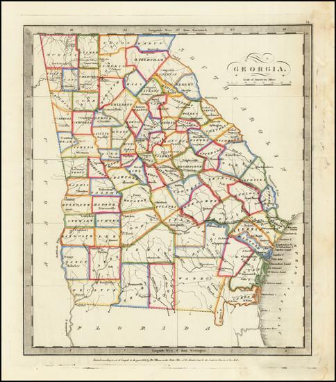 56-Georgia Map By David Hugh Burr