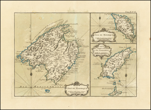 90-Balearic Islands Map By Jacques Nicolas Bellin