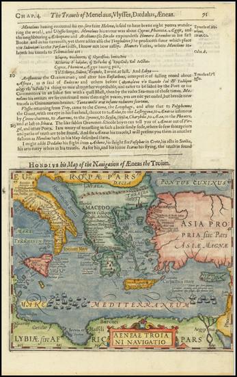 96-Mediterranean, Balearic Islands and Greece Map By Jodocus Hondius / Samuel Purchas