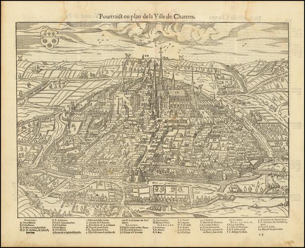 85-Nord et Nord-Est Map By Francois De Belleforest