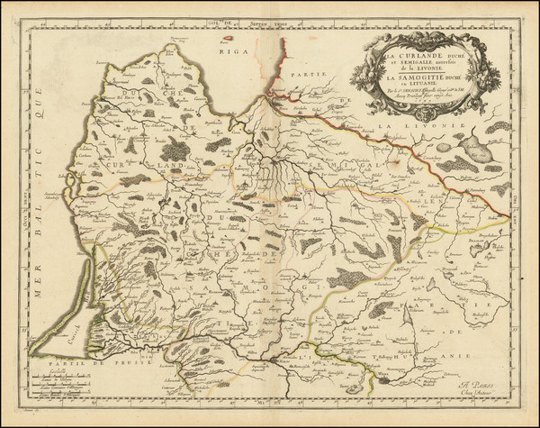 1-Baltic Countries Map By Nicolas Sanson