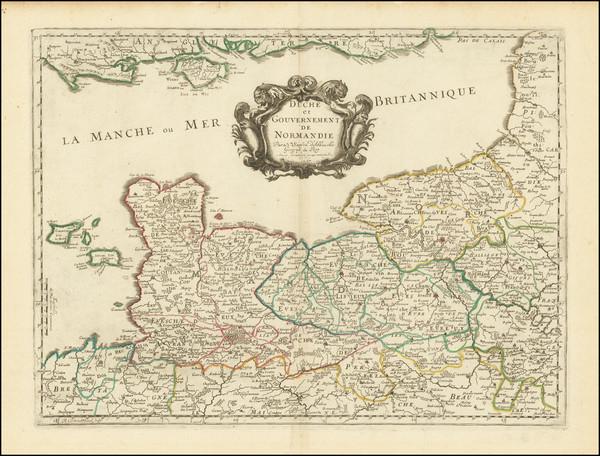 80-Normandie Map By Nicolas Sanson