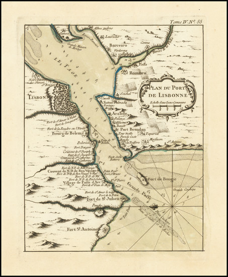 5-Portugal Map By Jacques Nicolas Bellin