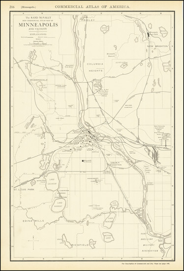 66-Minnesota Map By Rand McNally & Company