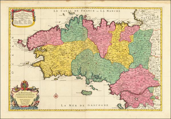 55-Bretagne Map By Nicolas Sanson / Pierre Mortier