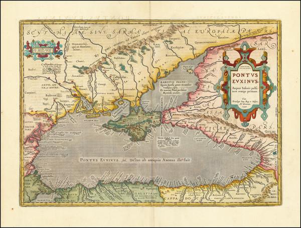 34-Ukraine, Romania, Turkey and Turkey & Asia Minor Map By Abraham Ortelius