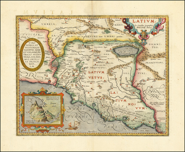 39-Northern Italy and Southern Italy Map By Abraham Ortelius