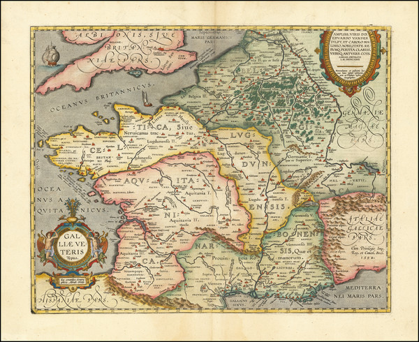 52-France Map By Abraham Ortelius