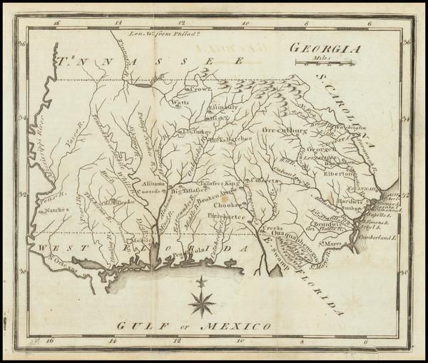 45-South, Alabama, Mississippi, Southeast and Georgia Map By Joseph Scott