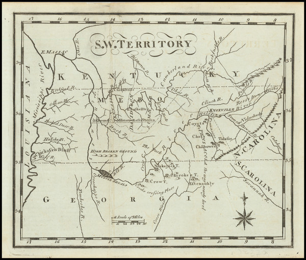 83-Alabama, Mississippi, Kentucky, Tennessee and Georgia Map By Joseph Scott