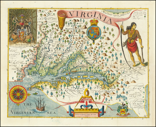 60-Virginia Map By John Smith