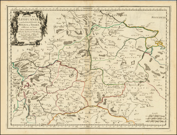 91-Poland, Russia and Ukraine Map By Nicolas Sanson