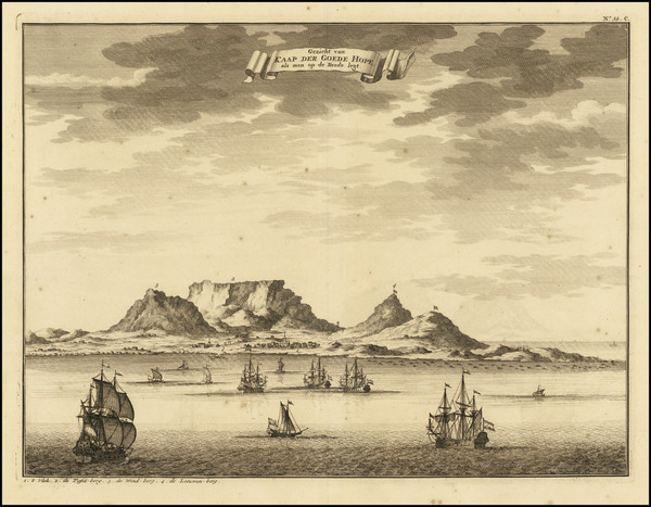 17-South Africa Map By Francois Valentijn