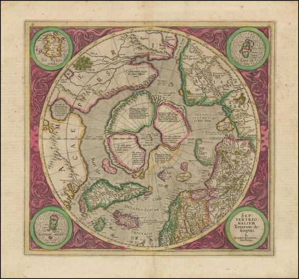 65-Northern Hemisphere and Polar Maps Map By Gerard Mercator