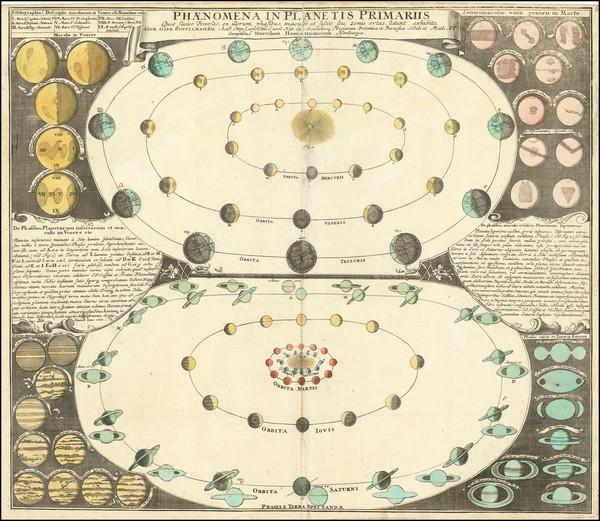 88-Celestial Maps Map By Johann Gabriele Doppelmayr / Johann Baptist Homann