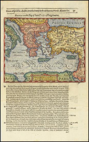 19-Mediterranean, Holy Land, Turkey & Asia Minor and Greece Map By Jodocus Hondius / Samuel Pu