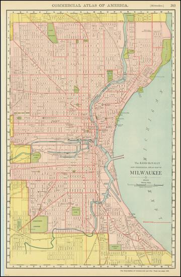 2-Wisconsin Map By Rand McNally & Company