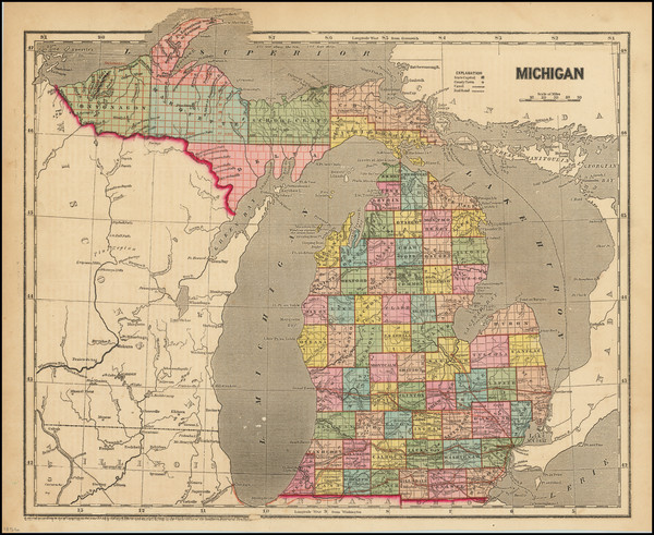 26-Michigan Map By Charles Morse