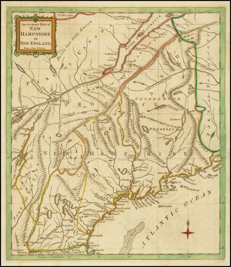 1-New Hampshire and American Revolution Map By Universal Magazine