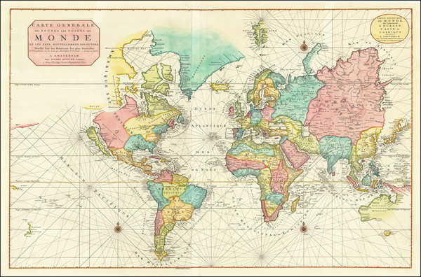 50-World and California as an Island Map By Pierre Mortier / Baltasar Ruyter
