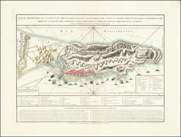 55-Gibraltar Map By Treuttel / Wurtz