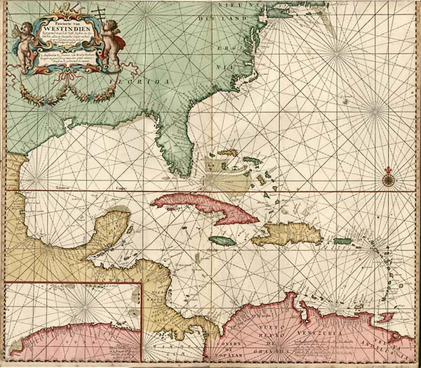 17-United States, South, Southeast and Caribbean Map By Johannes Van Keulen