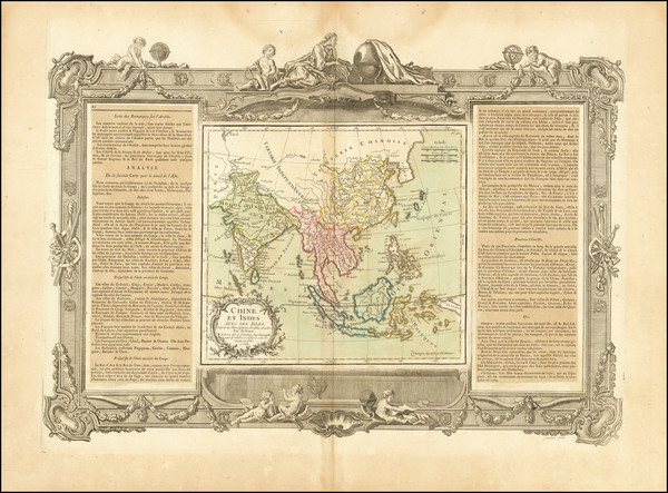 49-China, India, Southeast Asia and Philippines Map By Louis Brion de la Tour