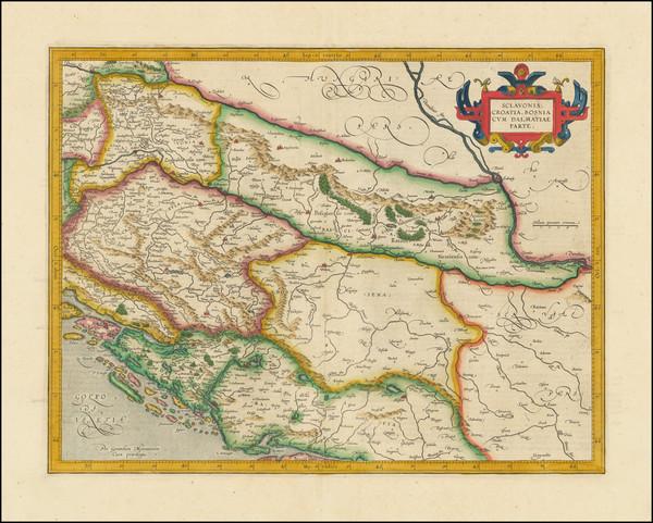 71-Croatia & Slovenia, Bosnia & Herzegovina and Serbia & Montenegro Map By  Gerard Mer