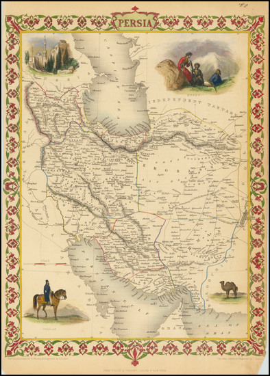 17-Central Asia & Caucasus, Middle East and Persia & Iraq Map By John Tallis