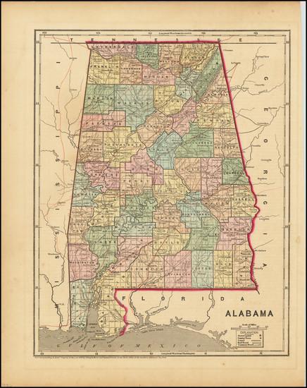 97-Alabama Map By Charles Morse