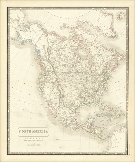 99-North America Map By W. & A.K. Johnston