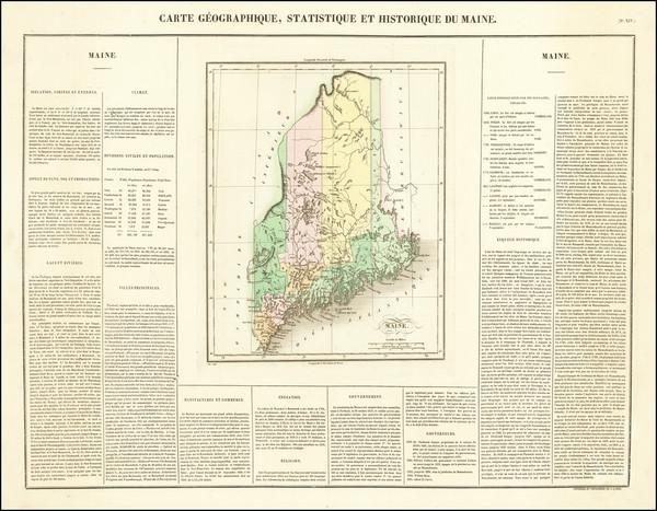 48-Maine Map By Jean Alexandre Buchon