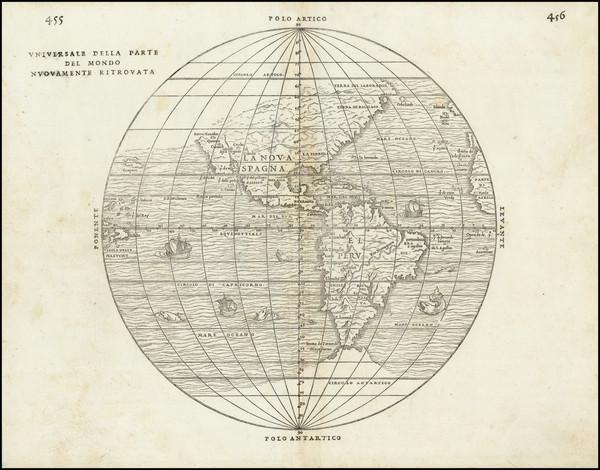59-Western Hemisphere, Southwest, South America, California and America Map By Giovanni Battista R