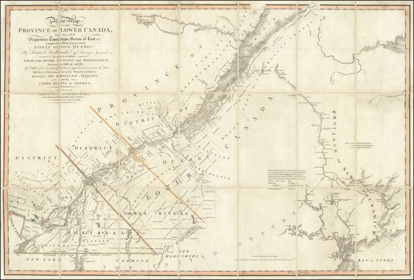 16-Maine and Eastern Canada Map By William Faden