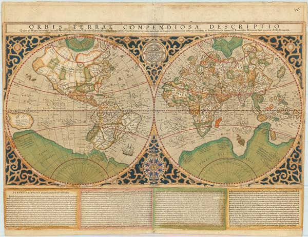 38-World Map By Rumold Mercator