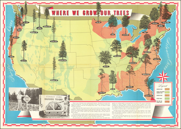 26-United States and Pictorial Maps Map By American Forest Products Industry