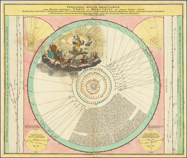 11-Celestial Maps Map By Johann Gabriele Doppelmayr / Johann Baptist Homann