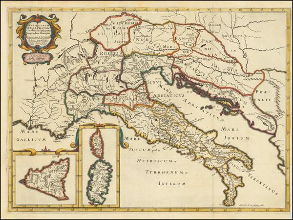 83-Italy, Corsica, Sardinia and Sicily Map By Tipografia del Seminario