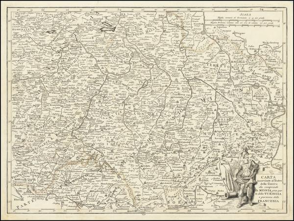 2-Mitteldeutschland Map By Francesco Griselini