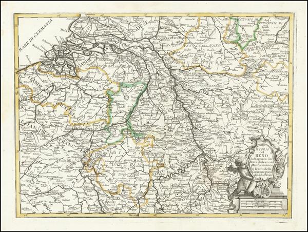 96-Netherlands and Belgium Map By Francesco Griselini