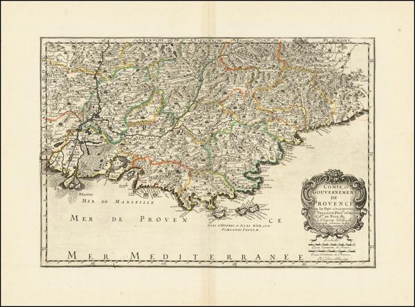 76-Sud et Alpes Française Map By Nicolas Sanson