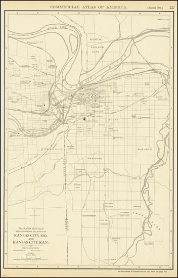 33-Kansas and Missouri Map By Rand McNally & Company