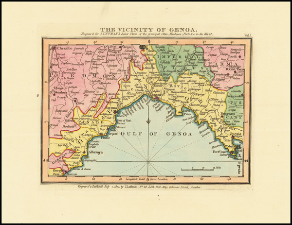 17-Northern Italy Map By John Luffman