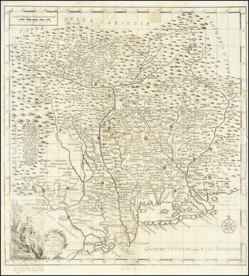 50-Northern Italy Map By Giambattista Albrizzi