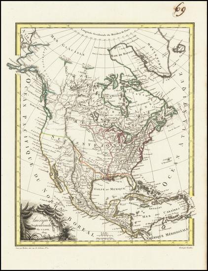 86-North America Map By Conrad Malte-Brun
