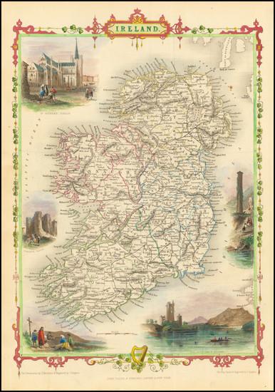90-Ireland Map By John Tallis