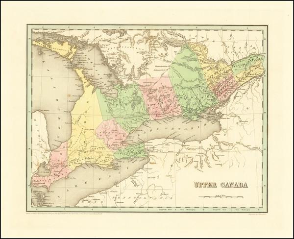 14-Eastern Canada Map By Thomas Gamaliel Bradford