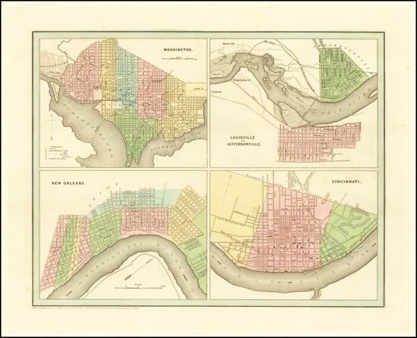 78-Washington, D.C., Louisiana, Kentucky and Ohio Map By Thomas Gamaliel Bradford