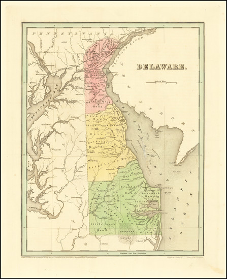0-Delaware Map By Thomas Gamaliel Bradford