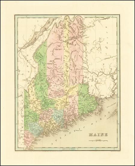 70-Maine Map By Thomas Gamaliel Bradford